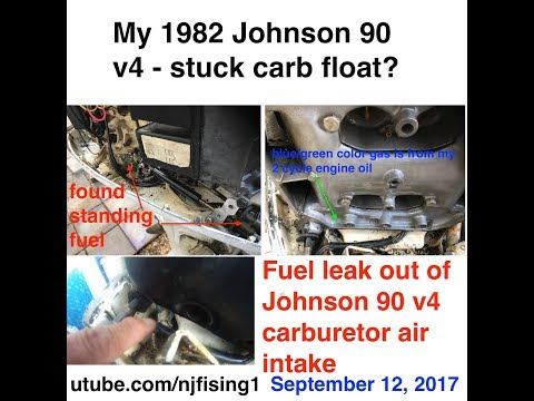 Johnson 90 hp leaking fuel from the Carburetor air intake