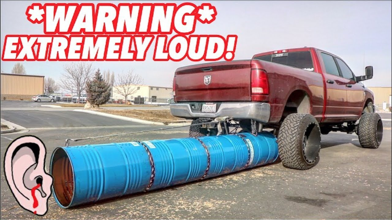 worlds biggest and loudest exhaust tip ever