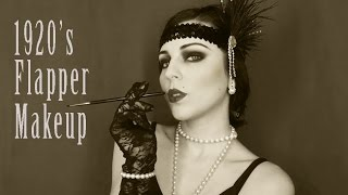 1920's Flapper Makeup Tutorial | Charleston Carnival Costume 2016