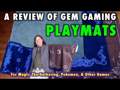 A Review of GEM Playmats for Magic: The Gathering, Pokemon, and other Tabletop Games