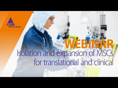 Isolation and expansion of MSCs for translational and clinical [WEBINAR]