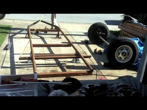 Home Made Sawmill Bandmill Trailer Build 1 Youtube
