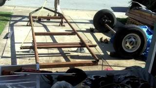 Home Made Sawmill  Bandmill  Trailer Build 1