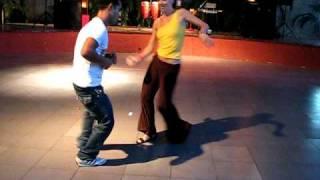 Chen Lizra dancing Cuban Salsa with Curi in Havana