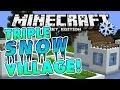 TRIPLE SNOW VILLAGE!! Minecraft Pocket Edition: Taiga Biome Villages
