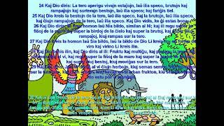 Biblio/ Genezo 1/ Bible in Esperanto