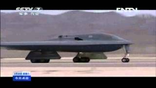 China Military TV: B-2 Spirit First Time Over Korea With Live Fire 美军B2轰炸机