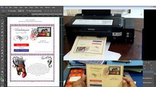 membuat undangan pernikahan sendiri model amplop dengan printer