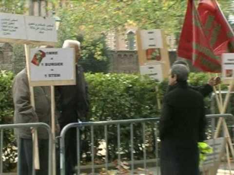 SIT-IN DEVANT AMBASSADE MAROC BRUXELLES CONTRE L'HOGRA