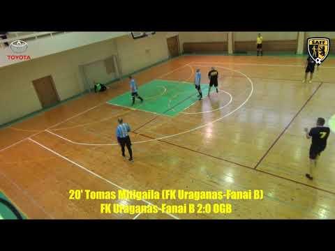 """ŠA salės futbolo pirmenybės: FK """"Uraganas""""-""""Fanai B"""" 3:1 """"OGB"""" (įvarčiai)"""