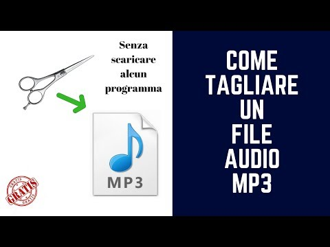 Come Tagliare File Audio MP3 - Online- GRATIS No Programmi