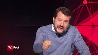 MATTEO SALVINI AL TG2 POST RAI 2, 21.10.2019