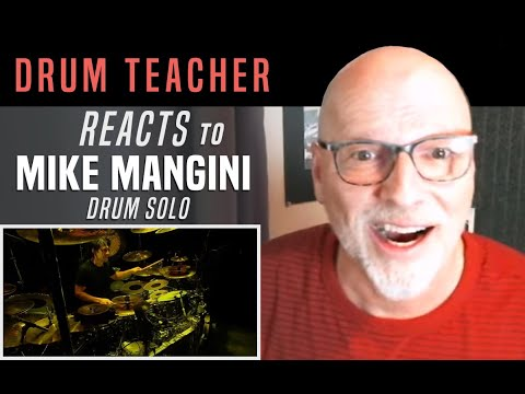 Drum Teacher Reacts to Mike Mangini - Drum Solo