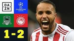 El Arabi-Doppelpack sichert Piräus UCL-Einzug   Krasnodar - Olympiakos 1:2   Champions League   DAZN