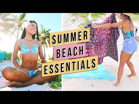 What to Pack For the Beach + What's In My Beach Bag! | Michelle Kanemitsu