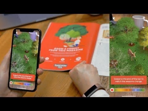 Augmented Reality for Print - Yorkshire Tea | 'Yorkshire Tree' Magazine Ad Campaign