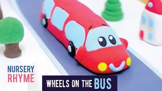 the wheels on the bus play doh nursery rhyme song for kids animation for babies and toddlers