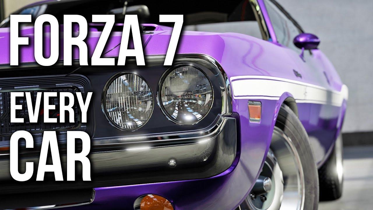 Forza Motorsport 7 Every Car Full List