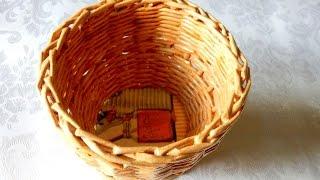 Корзина Плетение из газет мастер класс  Корзинка конфетница