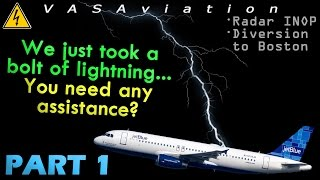 [REAL ATC] JetBlue A320 GETS HIT BY LIGHTNING departing @JFK | Part 1