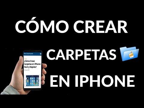 Cómo Crear Carpetas en iPhone