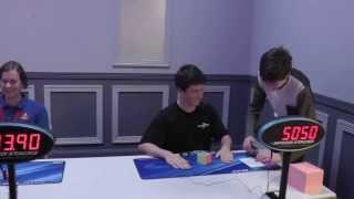 Рекорд в сборке Кубика Рубика 5х5 - 50:50 секунд