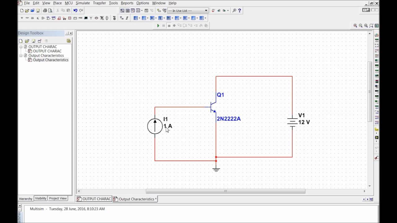 Bjt Output Characteristics Simulation With Multisim Youtube This Schematic Is Presented In 7 Format