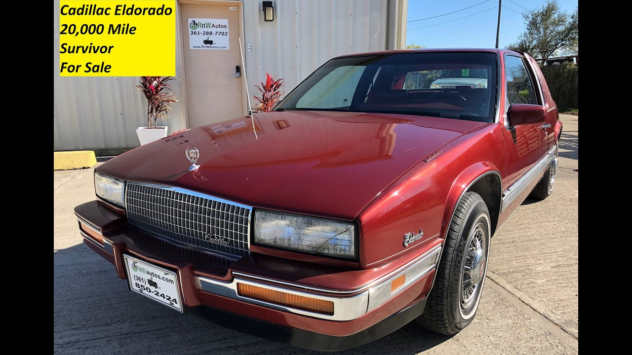 1986 cadillac eldorado 19k original miles for sale youtube 1986 cadillac eldorado 19k original miles for sale