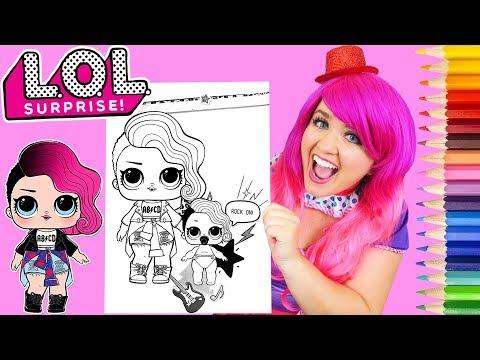 Coloring LOL Surprise Dolls Rocker & Lil Sister Coloring Page Prismacolor Pencils | KiMMi THE CLOWN