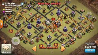 Clash of Clans TH10 Queen walk Miners 3 star war attack