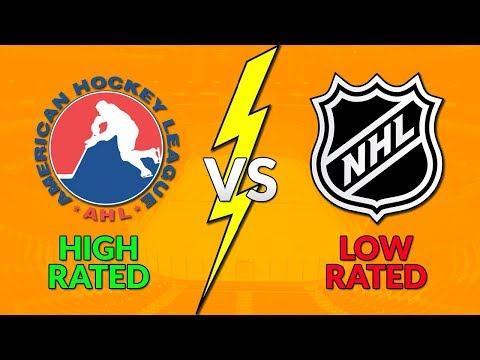 High Rated AHL vs Low Rated NHL Players (NHL 18)