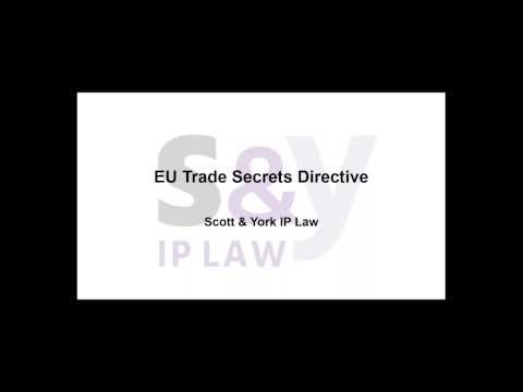 EU Trade Secrets Directive