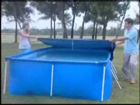 Splash Frame Pool Set-up Video - YouTube