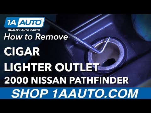 How To Remove Cigarette Outlet 96-04 Nissan Pathfinder