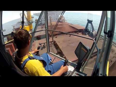 Liebherr - CBG 350 floating crane with 10 m eccentric platform