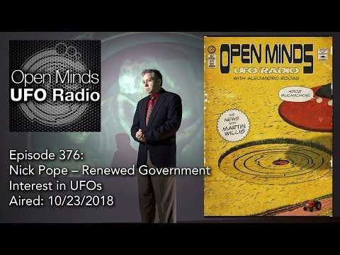 Open Minds UFO Radio: Nick Pope – Renewed Government Interest in UFOs