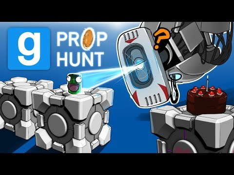 Gmod Ep. 56 PROP HUNT! - PORTAL EDITION! (Garry's Mod Funny Moments)