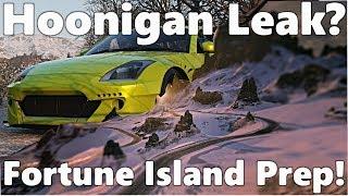 forza horizon 4: NEW Leaked Hoonigan DLC? + 350Z Drift Car Fortune Island Prep!!