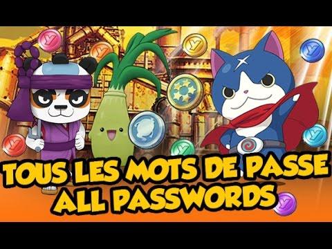 Tous Les Mots De Passe Yo Kai Watch 2 Effb