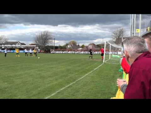 Joe Shelley missed penalty - Horsham vs Pagham