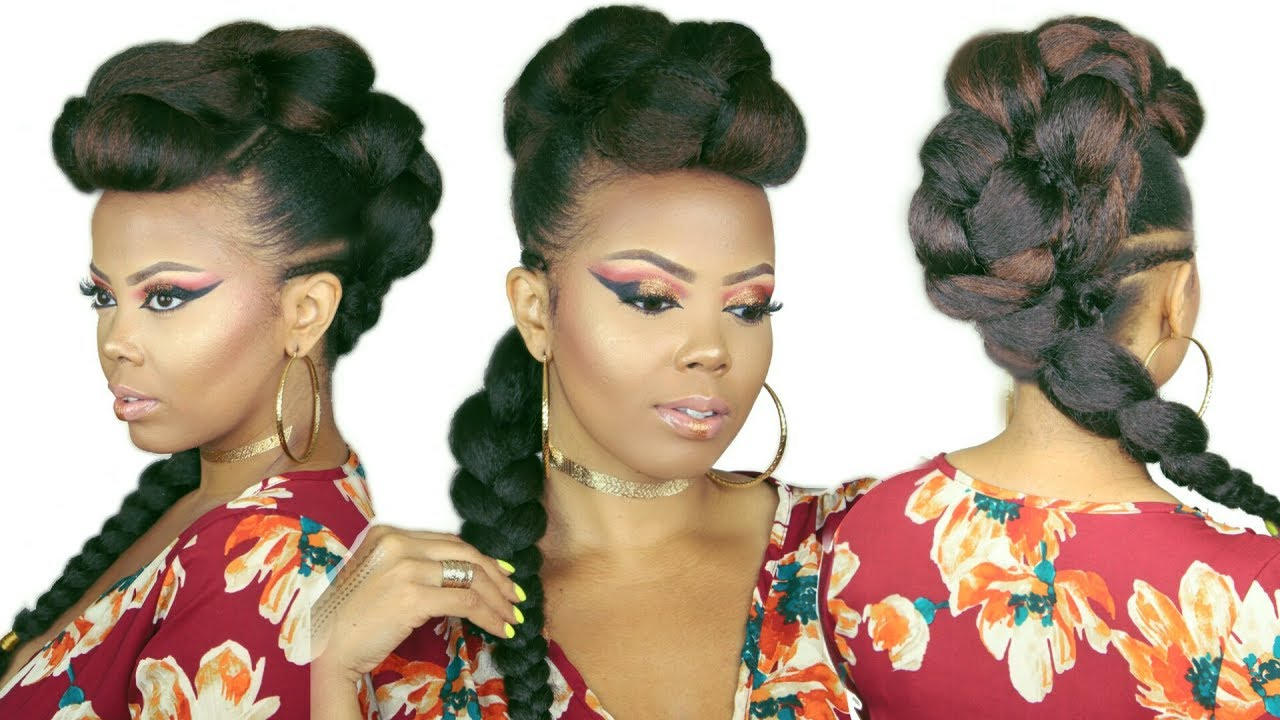 natural hair braided styles faux braided mohawk braided faux hawk how to no 2518 | maxresdefault