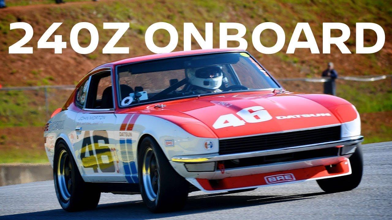 Amazing Onboard - John Morton's Datsun 240Z racecar! (Recommended vol   level: 11)