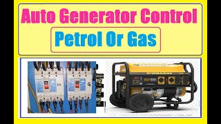 Auto start and stop Generator control circuit