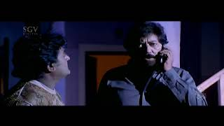 Kannada Scenes - Devaraj waits for ganesh at home kannada scenes | Chellata Kannada Movie
