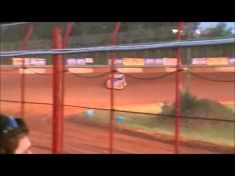 Jonathan Davenport qualifying at Screven Motor Speedway