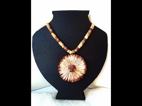 DIY PAPER PENDANT, STARBURST, paper beads, jewelry making