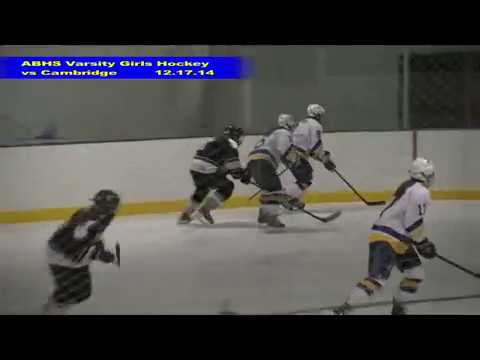 Acton Boxborough Varsity Girls Hockey vs Cambridge 12/17/14