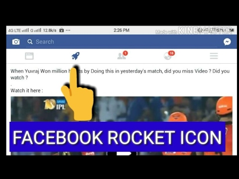 Facebook rocket icon 🚀 | Facebook's second News Feed | Facebook new feature