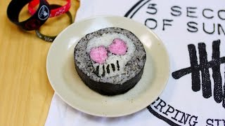 5 Seconds Of Summer Pink Eyes Skull FUTOMAKI SUSHI 飾り巻き寿司