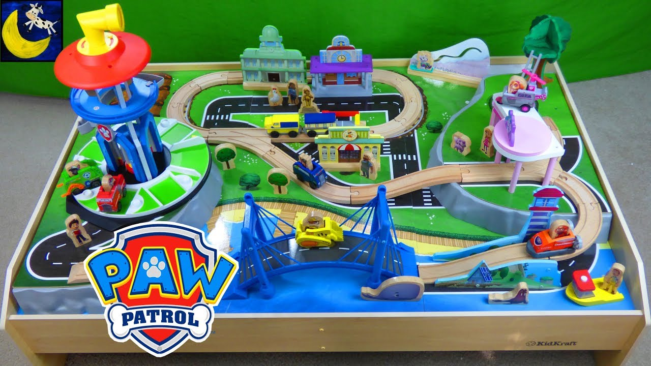 Paw Patrol Adventure Bay Play Table Look Out Tower Pups Kidcraft